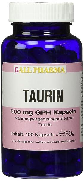 Gall Pharma Taurin 500 mg GPH Kapseln, 1er Pack (1 x 59 g)