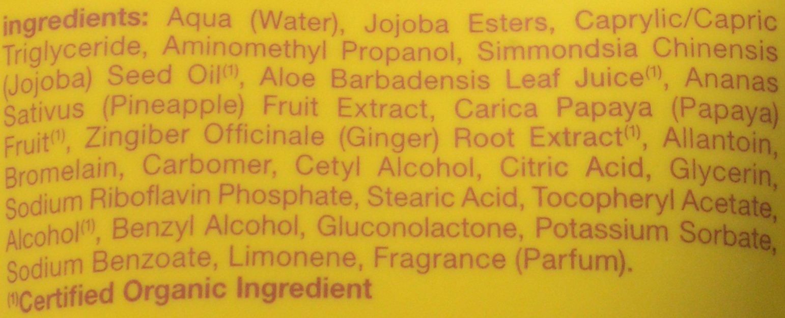 Enzyme facial exfoliant