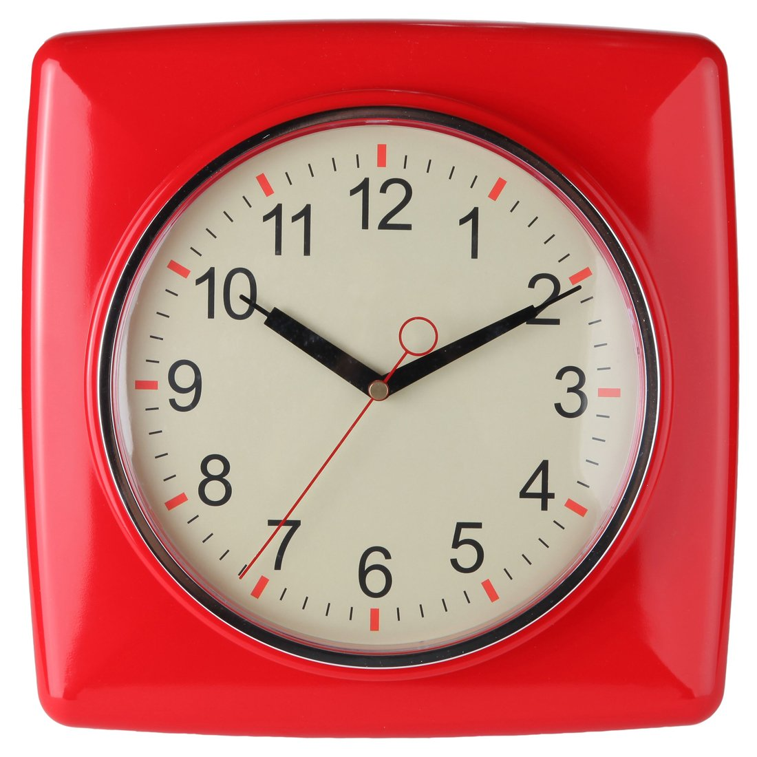 Lily S Home Square Retro Kitchen Wall Clock Large Dial