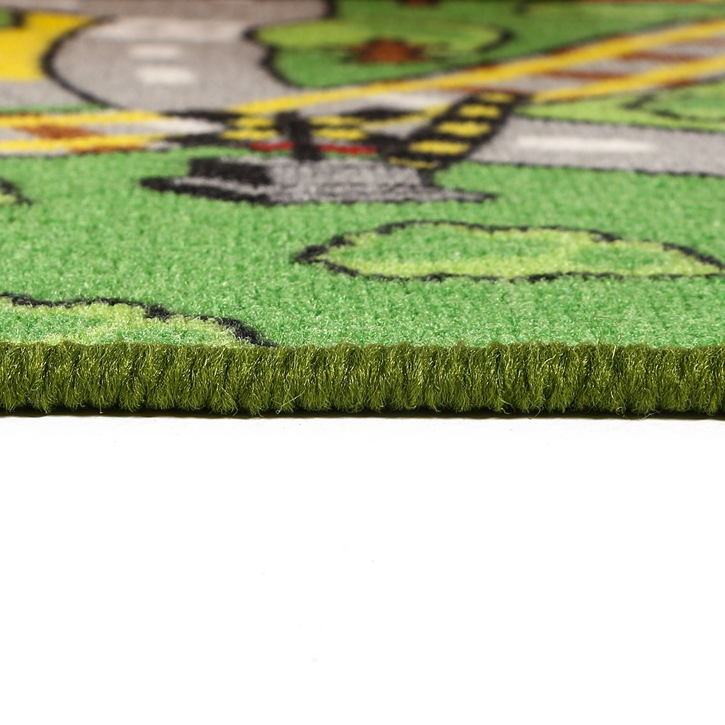 """JACKSON Large Kid Rug For Toy Cars,Car Rug Carpet With Non-Slip Backing, 52""""x 74"""" Car Rug Play Mat For Kidrooms,Playroom and Classroom,Safe And Fun Play Rug For Boys And Girls"""