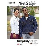 Simplicity US8845A Pattern S8845 Mimi G Jean Jacket, A (XS-S-M-L-XL) (Tamaño: A (XS-S-M-L-XL))