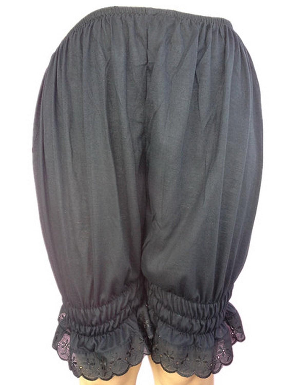 Frauen Handgefertigt Halb Slips UL3CBK Black Half Slips Cotton Women Pettipants Lace online kaufen