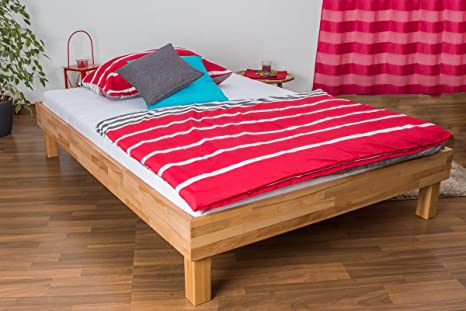 Futonbett / Massivholzbett Wooden Nature 04 Kernbuche geölt - Liegefläche 140 x 200 cm