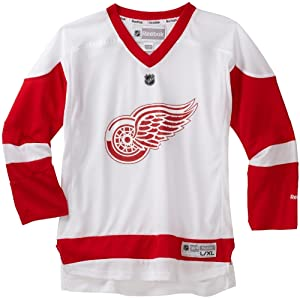 NHL Detroit Red Wings White Replica Youth Jersey, White, Large/X-Large