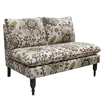 Skyline Furniture Armless Settee, Silsila Rhinestone