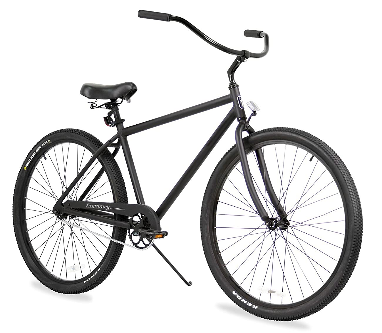 Firmstrong Black Rock Men's Single Speed Beach Cruiser Bicycle, 29-Inch, Matte Black 0