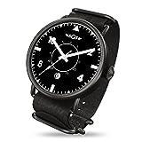 SGS Eagle ABWB - Men's Automatic Sapphire Crystal Pilot Watch (Color: Black White Black)