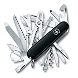 Victorinox Swiss Army Swiss Champ Pocket Knife (Black),One Size (Color: Black, Tamaño: 91mm)