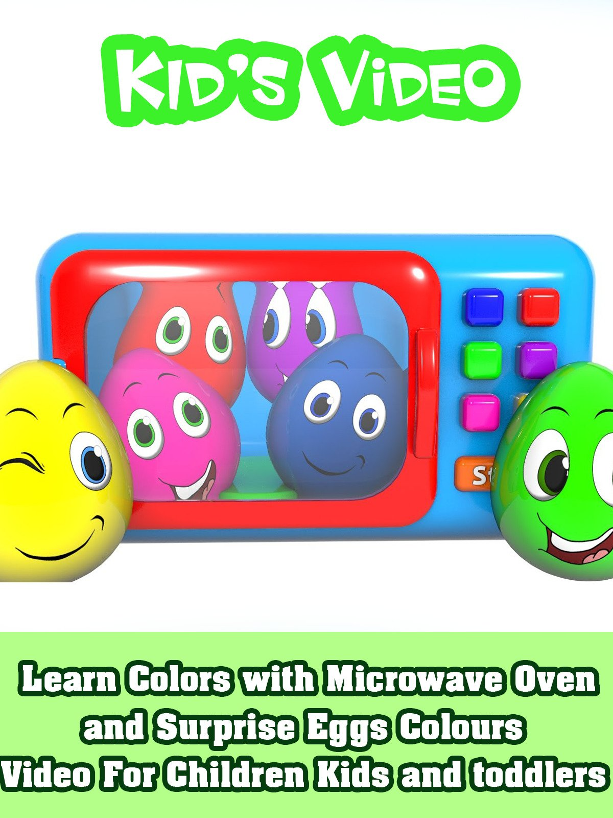 Learn Colors with Microwave Oven and Surprise Eggs Colours Video For Children Kids and Toddlers on Amazon Prime Instant Video UK