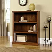 Sauder 3-Shelf Bookcase, Oiled Oak Finish