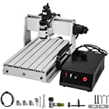 VEVOR CNC Router 3040 3 Axis CNC Router Machine 300x400mm CNC Router Kit 200W MACH3 Control Large 3D Engraving Machine CNC Router Kit with USB(3040 3 Axis with USB) (Color: 200W/3 Axis, Tamaño: 300X400MM/3 Axis)