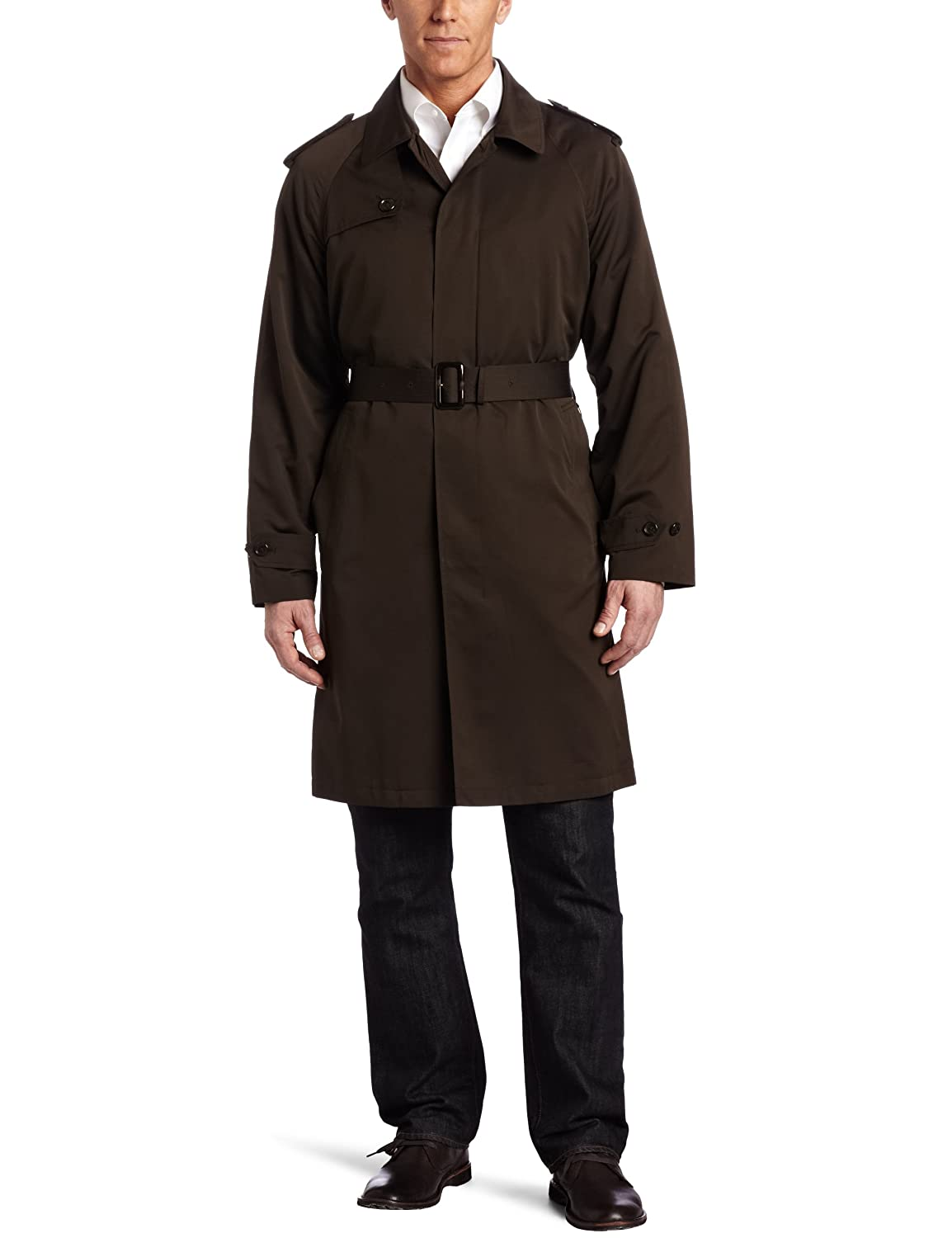 London Fog Men's Essex Fly Front Belted Trench Coat