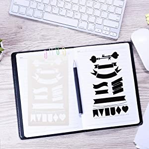 39PCS Letter and Number Stencils Journal Stencils Storage for Notebook, Diary, Scrapbook,  DIY Drawing Template