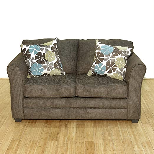 Chocolate Brown Contemporary Lounge Loveseat