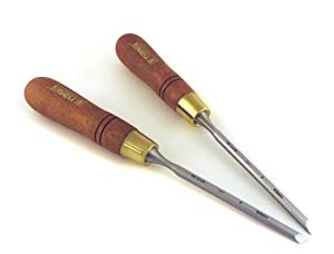 Narex Pair Right & Left 6 mm 1/4 Skew Paring Chisels in Wooden Presentation Box 851656