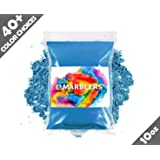 Marblers Powder Colorant 10oz (283g) [Cobalt Blue] | Pearlescent Pigment | Tint | Mica Powder for Resin | Dye | Non-Toxic | Great for Epoxy, Soap, Nail Polish, Cosmetics and Bath Bombs (Color: Cobalt Blue, Tamaño: 10oz)