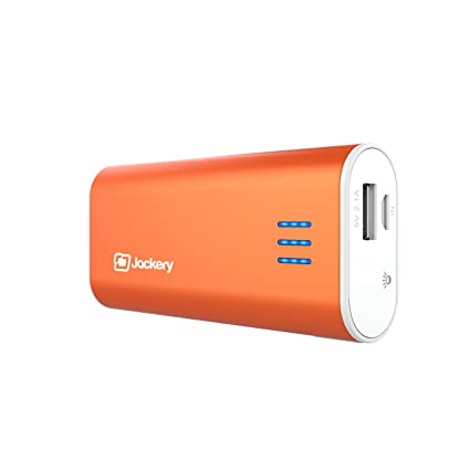 Jackery Bar External Battery Charger - Portable Charger and Power Bank for iPhone 6s, 6s Plus, 6 Plus, 5, iPad Air, iPad Pro, Samsung Galaxy S6, S5 & Other Smart Devices - 6,000 mAh (Orange)