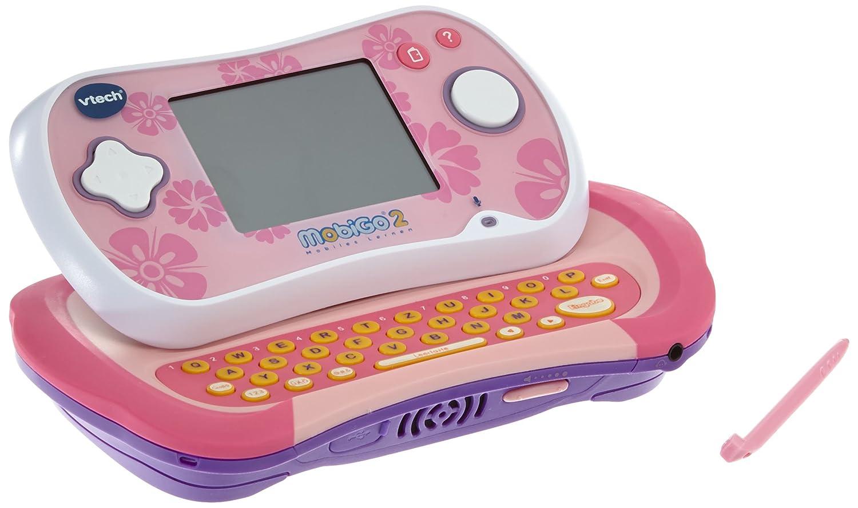 VTech 80-135854 – MobiGo 2, inklusiv Lernspiel – Hamster Highway und ABC-Schützen, pink als Geschenk