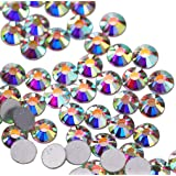 Jollin Glue Fix Crystal AB FlatBack Rhinestones (SS10 2880pcs, crystal AB) (Color: crystal AB, Tamaño: SS10 2880pcs)