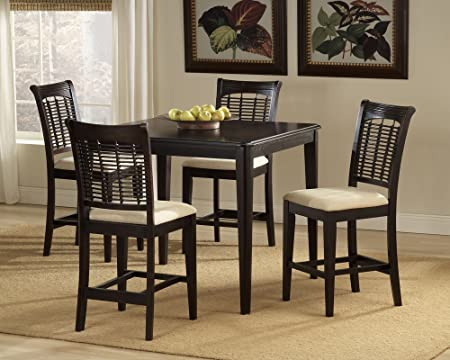 Bayberry 5 Piece Square Counter Height Dining Set- Dark Cherry
