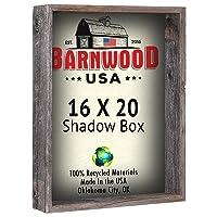 16 x 20 Shadow Box Frames - Rustic Reclaimed Wood