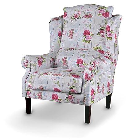 Dekoria Sessel 63 x 115 cm rosa-beige