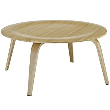 Molded Natural Plywood Round Coffee Table FMP251581