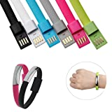Iphone Bracelet Charging Cable Braided Wrist Band USB Charger 4/pack