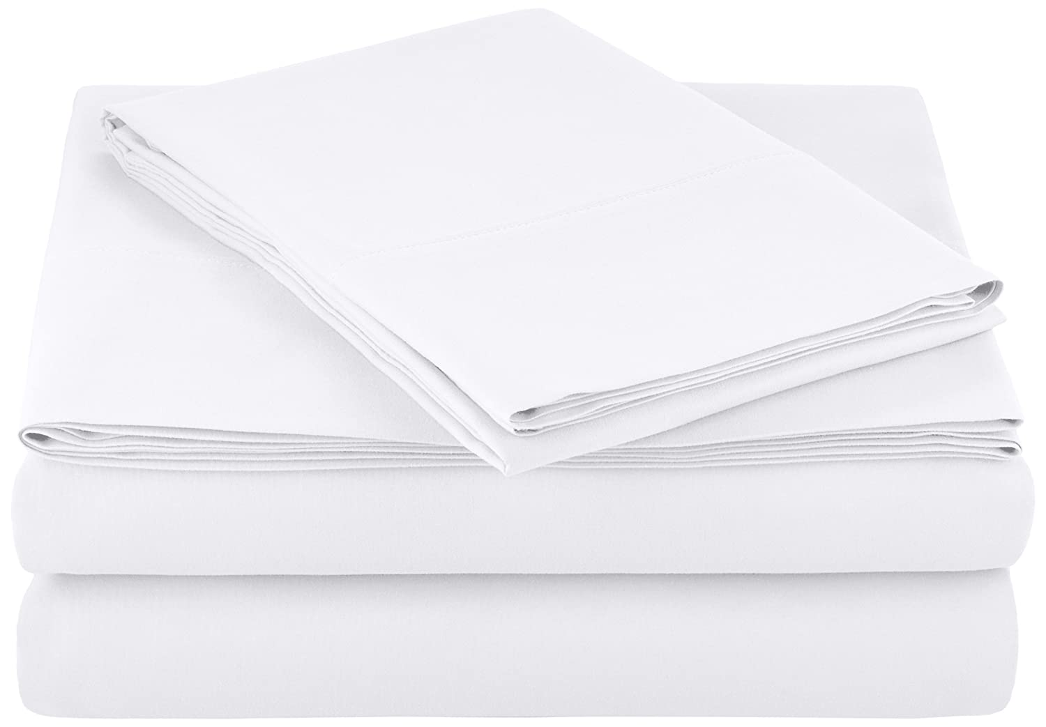 AmazonBasics Microfiber Sheet Set - Twin, Bright White