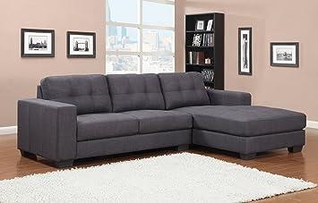 sam ecksofa garnitur aviano polstergarnitur in grau aus stoff sofa ca 270 x 165 cm ottomane. Black Bedroom Furniture Sets. Home Design Ideas