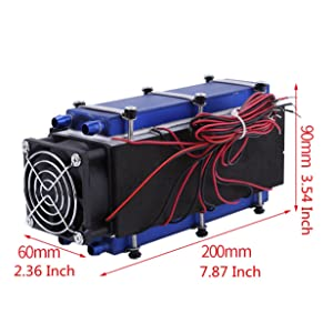 Mini Air Conditioner,DC 12V 576W 8-Chip TEC1-12706 DIY Thermoelectric Cooler Air Cooling Device (Color: Black)