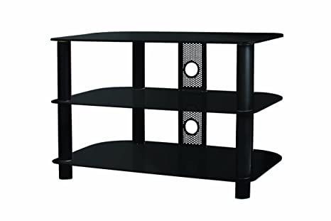 B-Tech BTF102 - Mesa para TV (con 3 estantes), negro