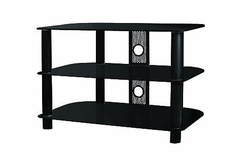 B-Tech BTF102 - Mesa para TV (con 3 estantes), negro