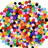 Caydo 2400 Pieces Pom Poms for Crafts 1cm Small Pompoms Multicolor for Arts and Crafts Hobby Supplies