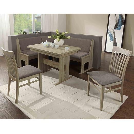 Eckbank Eckbankgruppe Essgruppe LIVORNO Essecke Tisch 2 Stuhle Sonoma Eiche