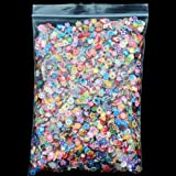 FantasyDay 10000Pcs Nail Sticker Mixed 3D Fruit Flower Candy Slices for Nail Art Tips Decoration Assorted Slices Clay Nails Stickers Rods Gel Tips #2 - Charms Slices for Wedding/Party Decoration (Color: #1)