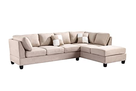 Glory Furniture G631-SC Sectional Sofa, Beige, 2 boxes