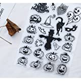 Clear Stamps for DIY Scrapbooking Paper Cards Making Decoration (halloween pumpkin) (Color: halloween pumpkin)