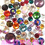 100 pcs 2mm- 5mm Mix color & Size Crystal Glass Rhinestone Flatback Cabochon ~ M2-02
