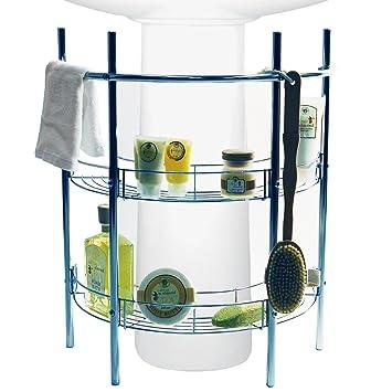 reno sous lavabo 2 2 tag res de rangement de salle de bain bain argent cuisine. Black Bedroom Furniture Sets. Home Design Ideas