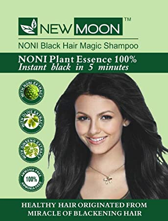 Buy New Moon Noni Hair Dying Shampoo for Men & Women - Instant 5 ...