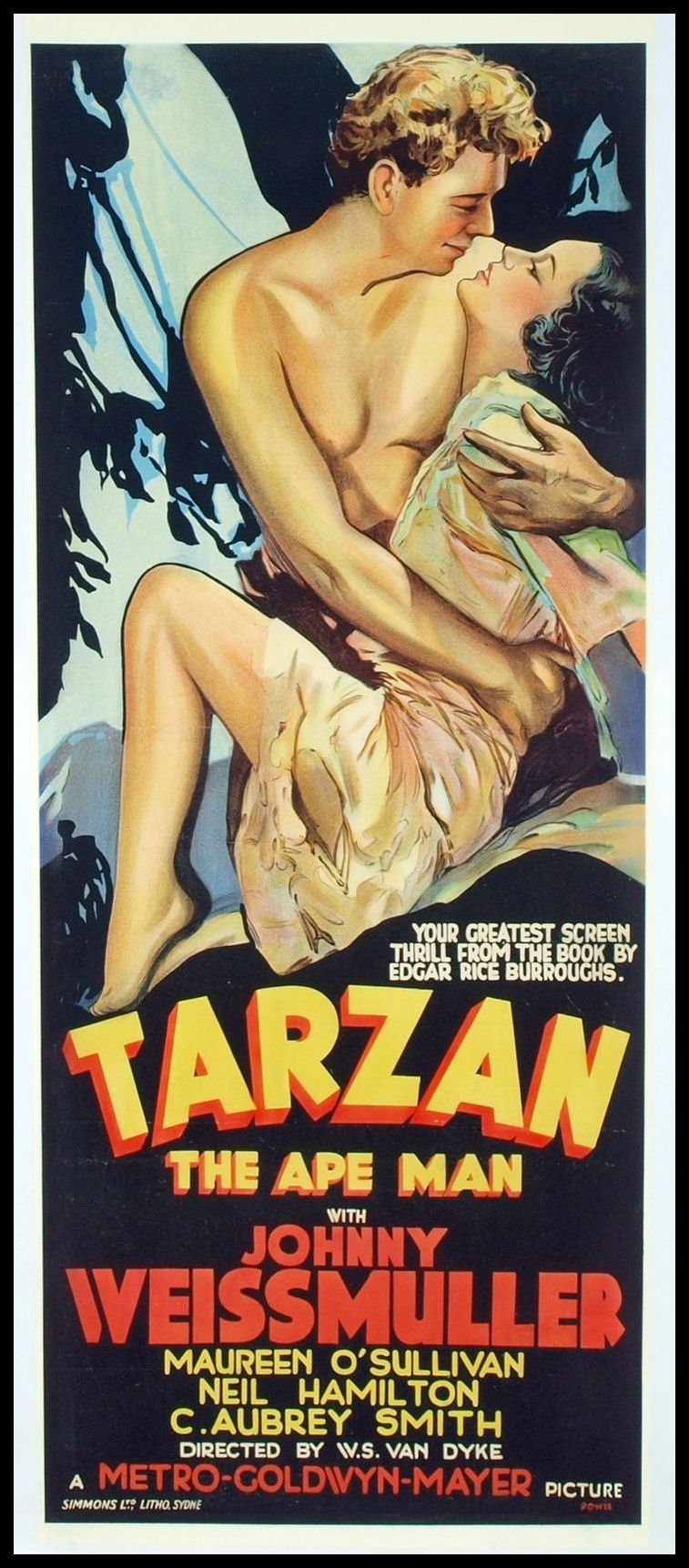 Magnetic Movie Poster Tarzan Ape Man Fridge Magnet