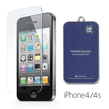 【クリックで詳細表示】WANLOK 改善版 iPhone4 iPhone4S Apple 2015 新設計 日本製 国産 強化ガラス 液晶保護 フィルム 超薄0.3mm 表面硬度9H 2.5D ラウンドエッジ加工 超耐久 超薄型 安心交換保証付 NSG 日本板硝子社 【国内正規品】iPhone 4 4S: 家電・カメラ