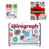 Spirograph Design Tin Set Creativity Kit for Kids - Includes Spirograph Design Tin Set, Multicolored Gel Pens, And Mandala Coloring Book for Kids - Ideal Art Gift Set for Promoting Development in Kids