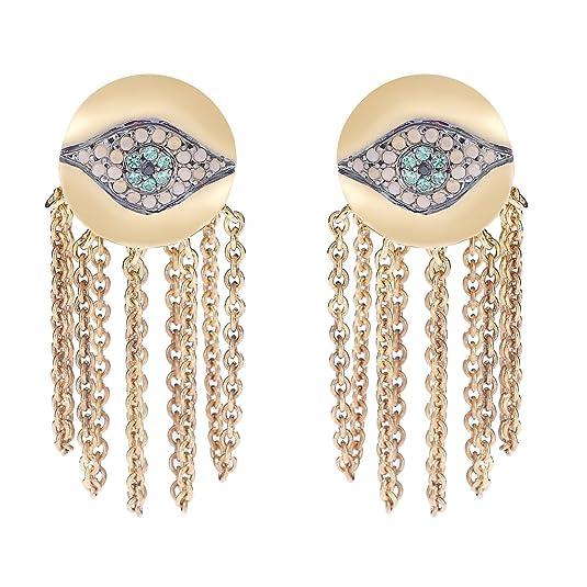 IAM by Ileana Makri Sterling Silver Dawn Chain Earrings