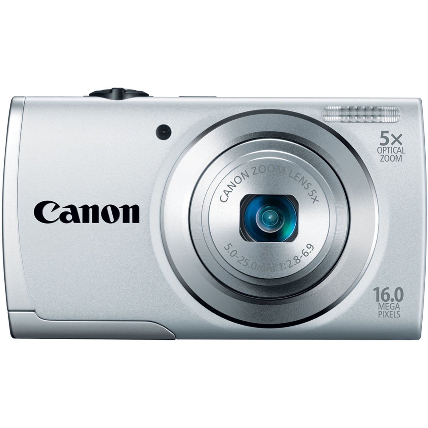 Canon PowerShot A2500 16MP Digital Camera with 5x Optical Zoom with 3-Inch LCD (Silver)