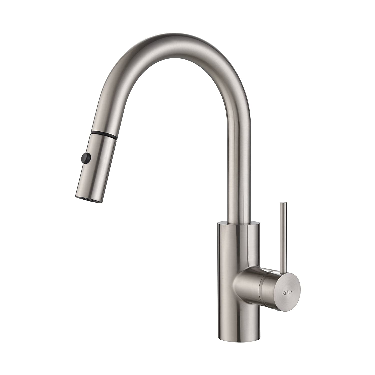 Kraus KPF-2620SS Modern Mateo Single Lever Pull Down Kitchen Faucet, Stainless Steel
