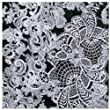 Decopatch Paper 435 - Flowery Lace (White - Black)