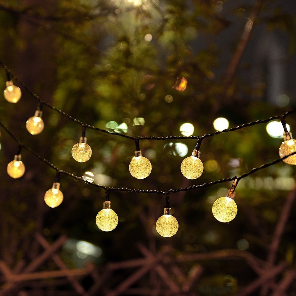 Globe String Lights Cmyk 20 Ft 30 Crystal Balls