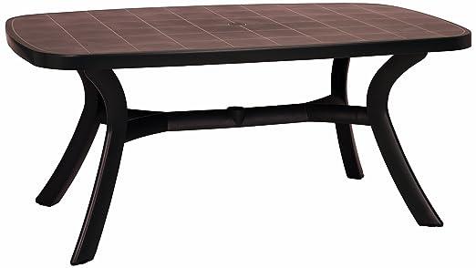 Best 18519210 Kansas Table ovale Marron 192 x 105 cm